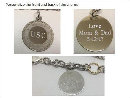 custom engraved graduation pendant
