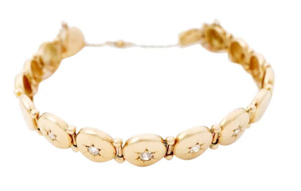 victiorian circle link bracelet